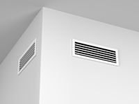 Air vents on the wall