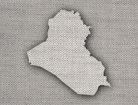 Karte des Irak auf altem Leinen - Map of Iraq on old linen