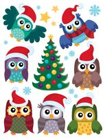 Christmas owls thematic set 1