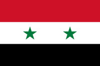Fahne von Syrien - Colored flag of Syria