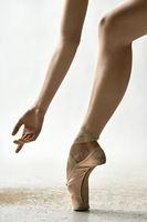 Ballet dancer posing in studio