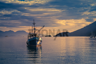 Fishing boat on sea