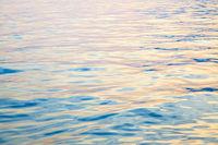 Water surface at sundown