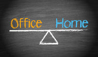 Office and Home - Work-Life Balance Concept