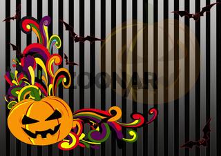 Halloween Retro Swirls