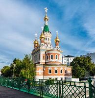 Russian Orthodox St Nicholas church in the city of Vienna