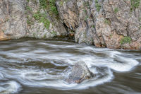 spring runoff of Poudre River in Colorado