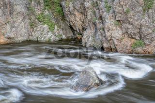 spring runoff of Poudre River in Colorado