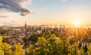 Sonnenuntergang in Bern