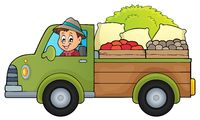 Farm truck theme image 1