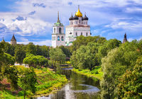 The Pskov Kremlin and Trinity Church, Pskov, Russia