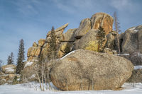 granite rock formation in Vedauwoo Recreation Area