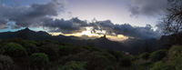 Panorama von Gran Canaria Gebirge mit Roque Bentayga