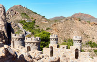 Castillitos Battery, fortifications of Cartagena, province of Murcia. Spain