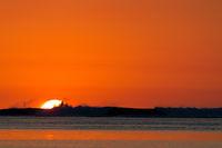 Sunset on Mauritius