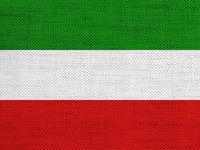 Fahne auf altem Leinen - Flag on old linen