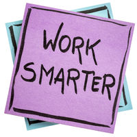 Work smarter reminder note