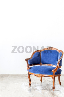 Blue sofa couch
