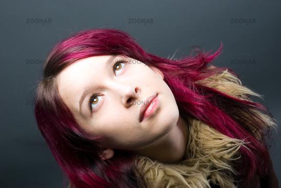 Red Hair Emo Girls. Red Hair Emo. Emo look girl