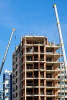 Construction of a residential house. Torrevieja city. Spain