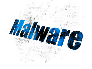 Safety concept: Malware on Digital background