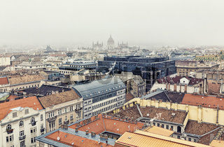 Aerial View On Budapest At Winter, Hungary