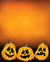 Halloween pumpkins theme image 4 - picture illustration.
