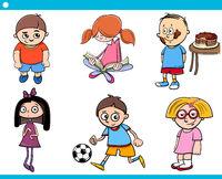 children characters cartoon set