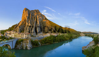 Town Sisteron in Provence France