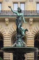 Hamburg - Hygieia Fountain at the Hamburg Rathaus