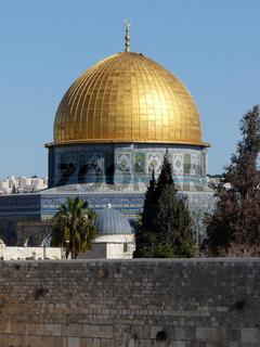 Goldene Kuppel des Felsendoms in Jerusalem