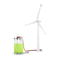 Charging battery with wind turbine