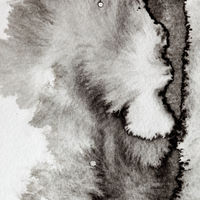 Grey formless ink stain
