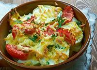 Turkish dish of zucchini