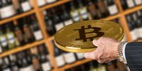 Offering bitcoin for bottles of wine in store