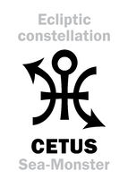 Astrology: Sign of constellation CETUS (The Sea-Monster)