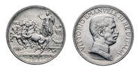One 1 Lira silver Coin 1916 quadriga briosa horsed chariot, Vittorio Emanuele III Kingdom of Italy