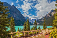 The picturesque embankment at Lake Louise