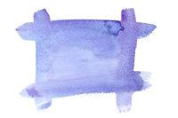 Blue violet watercolor frame