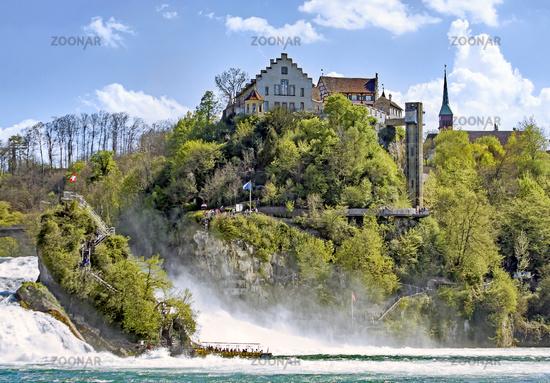 Castle Laufen at the Rhine Falls,  near Schaffhausen, Switzerland