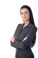 Pretty businesswoman posing