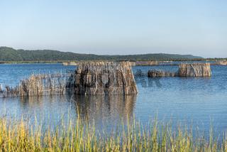 Fischfalle in der Kosi Lagune, Kosi Forest, iSimangaliso Wetland Park