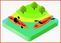 kayak boat vector