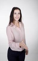 handshake of young businesswoman