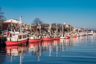 Fischerboote am Alten Strom in Warnemünde