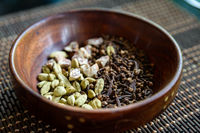 Cardamon, cloves and areca nuts