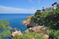 Coastal Landscape at Costa Brava near Tossa de Mar,Catalonia,Spain