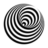 optical illusion black and white circles cone