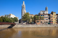 City Skyline of Girona in Spain