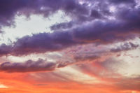 Colorful sunset clouds